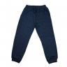 Calça Infantil Avulsa De Moletom Careca Azul Jeans Costas