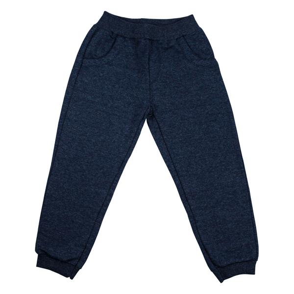 Calça Infantil Avulsa De Moletom Careca Azul Jeans Frente