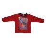 Blusão Infantil De Moletom American Brooklyn Vermelho e Preto Cleomara