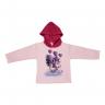 Blusão Infantil De Moletom Com Capuz Pinguim Rosa e Pink Cleomara