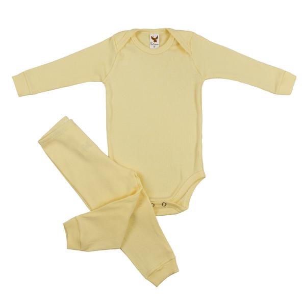 Conjunto Bebê Body e Calça Pagão Envelope Amarelo Frente C. Canaã