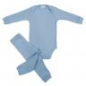 Conjunto Bebê Body e Calça Pagão Envelope Azul Frente C. Canaã