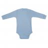 Conjunto Bebê Body e Calça Pagão Envelope Azul Costas C. Canaã