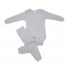 Conjunto Bebê Body e Calça Pagão Envelope Mescla Frente C. Canaã
