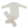 Conjunto Bebê Body e Calça Pagão Envelope Pérola Frente C. Canaã