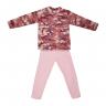 Conjunto Infantil De Soft Calça e Blusa Camuflada Rosa C Canaã