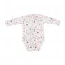Conjunto Bebê Body e Calça De Boucle Peluciado Flor Pink Costas C Canaã