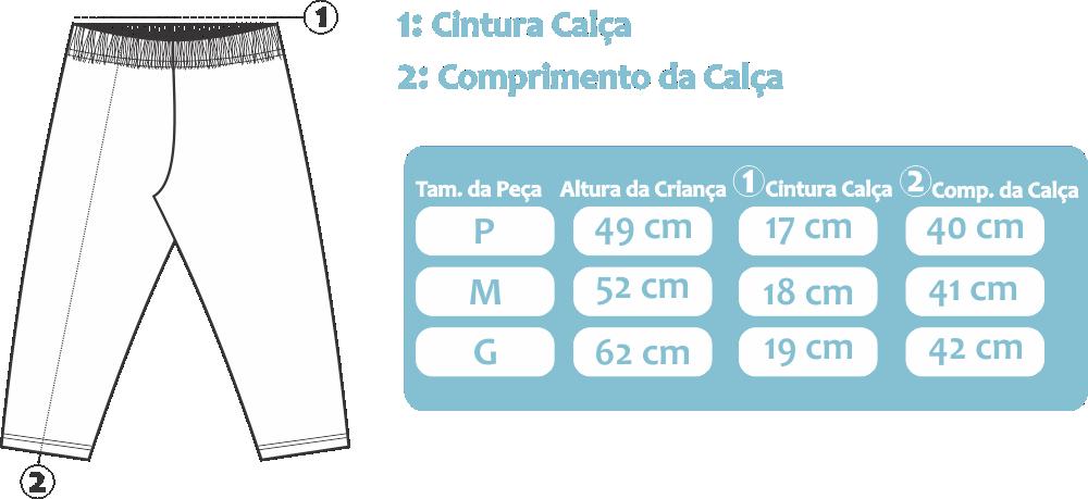Tabela de medida da referêcia 784