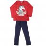 Conjunto Infantil Blusão e Legging Unicórnio Vermelho e Marinho Ikiture