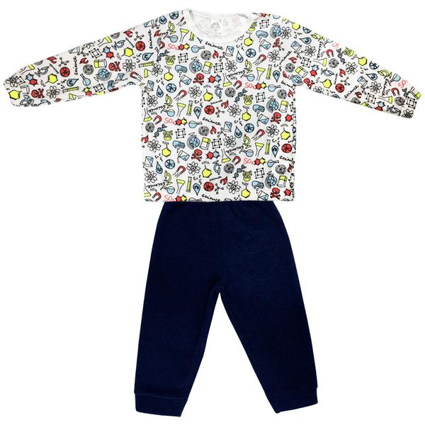 Conjunto Infantil De Boucle Blusão e Calça Laboratório Marinho C Canaã