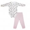Conjunto Bebê Body e Calça Pagão Estampado Coruja Rosa C. Canaã