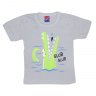 Camiseta Infantil Jacaré Cinza Alemara