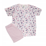 Pijama Infantil Shorts e Blusa Gatinha Rosa C. Canaã
