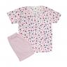 Pijama Infantil Shorts e Blusa Morango Rosa - C. Canaã