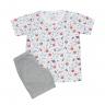 Pijama Infantil Bermuda e Camiseta Galáxia Mescla - C. Canaã