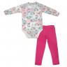 Conjunto Infantil De Boucle Body e Legging Unicórnio Pink - C. Canaã