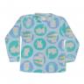 Blusa Bebê De Soft Gato Azul - C. Canaã