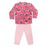 Conjunto Bebê De Soft Blusa e Calça Pinguim Rosa - C. Canaã
