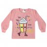Blusão Infantil De Moletom Milk Shake Rosa - Jidi
