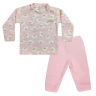 Conjunto Bebê Blusa e Calça De Soft Ovelha Rosa C Canaã