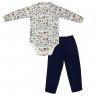 Conjunto Infantil De Boucle Body e Calça Laboratório Marinho - C. Canaã