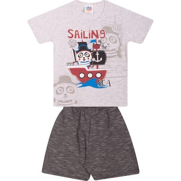 Conjunto Infantil Camiseta e Bermuda Mescla - Wilbertex