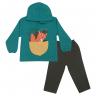 Conjunto Bebê Blusão De Moletom e Calça Fox Verde - Jidi