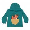 Blusão Bebê De Moletom Com Capuz Fox Verde - Jidi