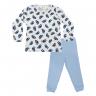 Conjunto Infantil De Canelado Pinguim Azul-min