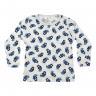 Blusa Infantil De Canelado Pinguim Azul C Canaã-min