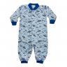 Macacão Bebê De Moletinho Sem Pé Abertura Frontal Astronauta Azul - C. Canaã