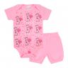conjunto bebe body e shorts pagao envelope girafa rosa dino kids min