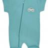 macacao curto bebe de suedine abertura de ziper verde carros vestir com amor