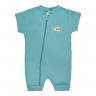 macacao curto bebe de suedine abertura de ziper verde aviao vestir com amor