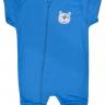 macacao curto bebe de suedine abertura de ziper turquesa dog vestir com amor