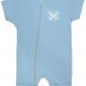 macacao curto bebe de suedine abertura de ziper azul tigre vestir com amor