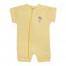macacao curto bebe de suedine abertura de ziper amarelo sorvete vestir com amor