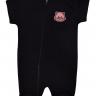 macacao curto bebe de suedine abertura de ziper preto gato vestir com amor