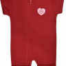 macacao curto bebe de suedine abertura de ziper coracao vermelho vestir com amor