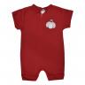 macacao curto bebe de suedine abertura de ziper joaninha vermelho vestir com amor