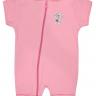 macacao curto bebe de suedine abertura de ziper urso estrela rosa vestir com amor