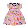 vestido bebe decote americano avulso unicornio rosa vestir com amor