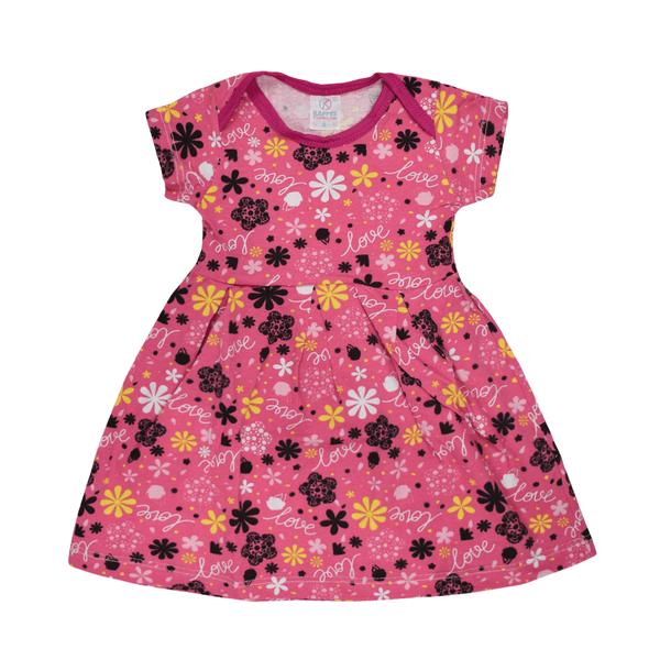 vestido bebe decote americano avulso love pink vestir com amor