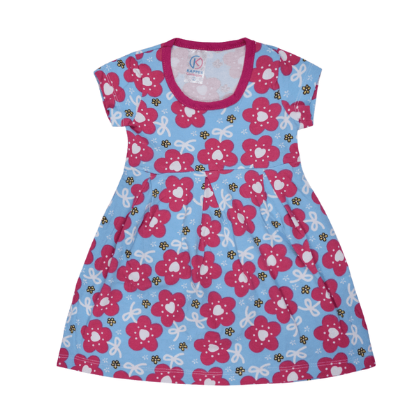 vestido infantil avulso flor azul vestir com amor