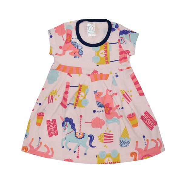 vestido infantil avulso unicornio rosa vestir com amor