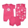 kit banho de sol bebe 3 pecas pagao estrela pink dino kids