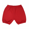 shorts bebe polvo vermelho dino kids