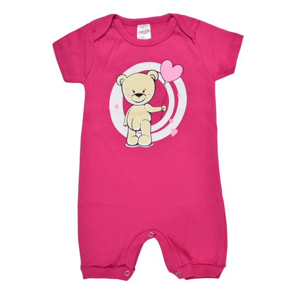 macacao bebe balao pink dino kids