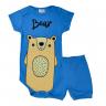 conjunto bebe body e shorts pagao envelope urso royal vestir com amor