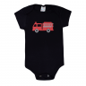 body bebe bombeiro preto vestir com amor